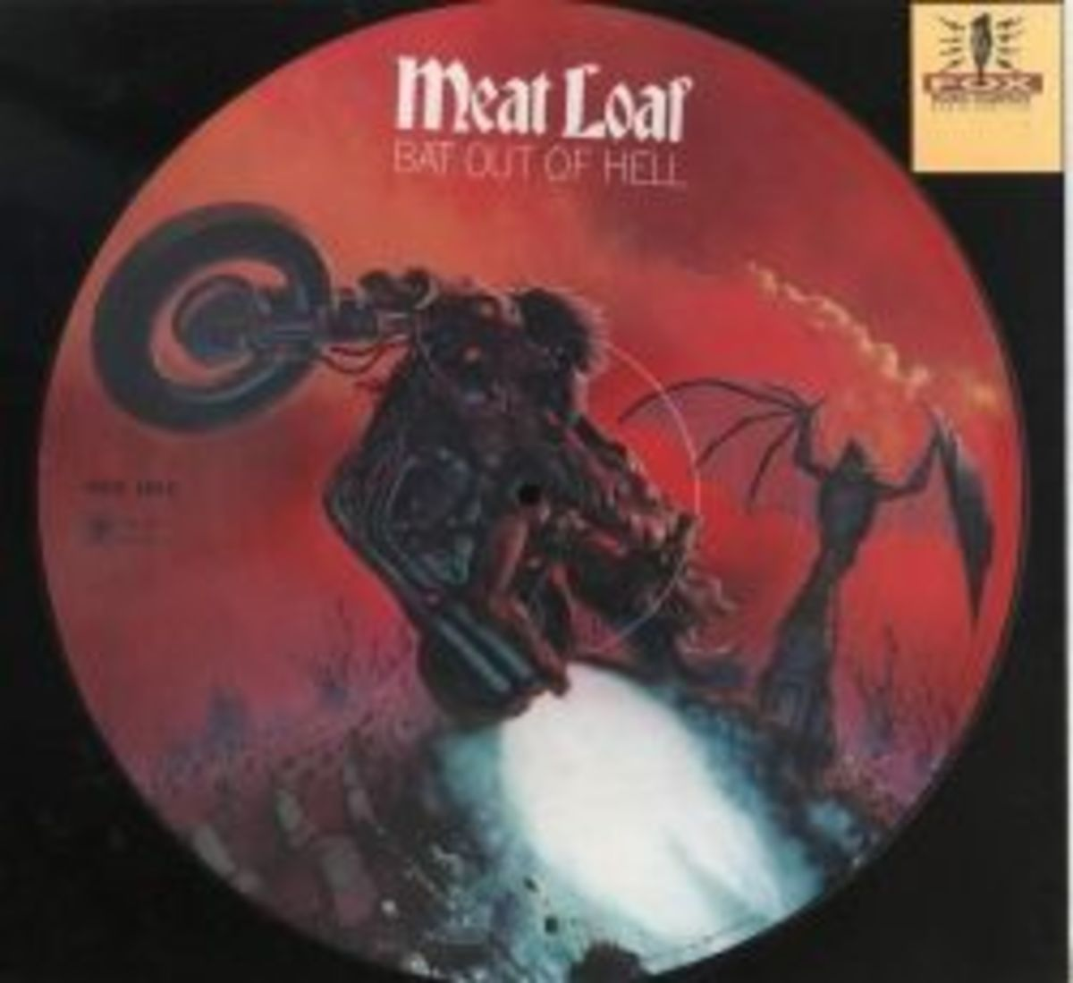 """Meatloaf """"Bat Out Of Hell"""" Cleavland International Records 34974 Picture Disc Vinyl Record"""