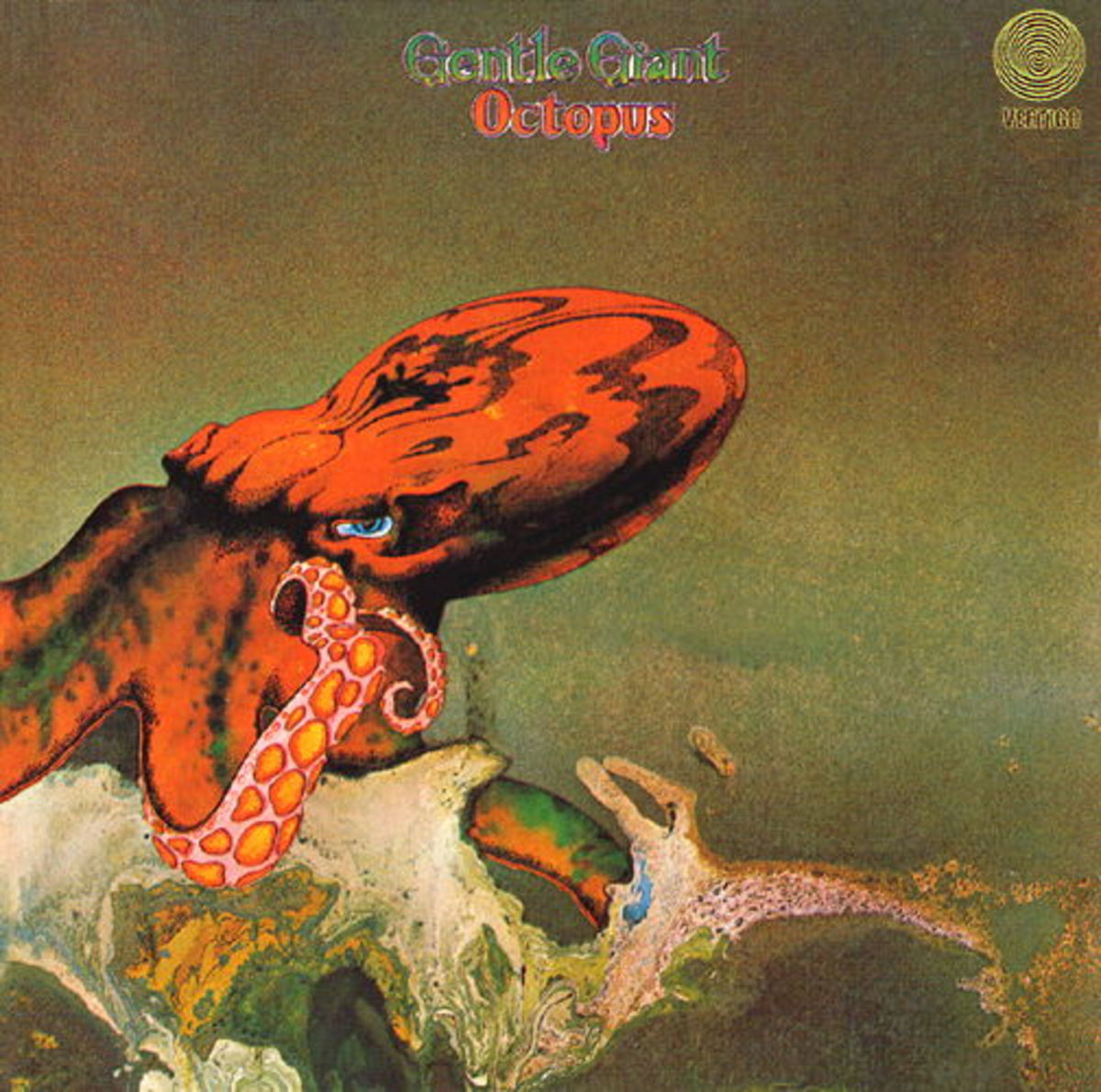 "Gentle Giant ""Octopus"" Vertigo Records 6360 080 12"" Vinyl Record, UK Pressing (1972) Gatefold Album Cover Art & Design by Roger Dean"