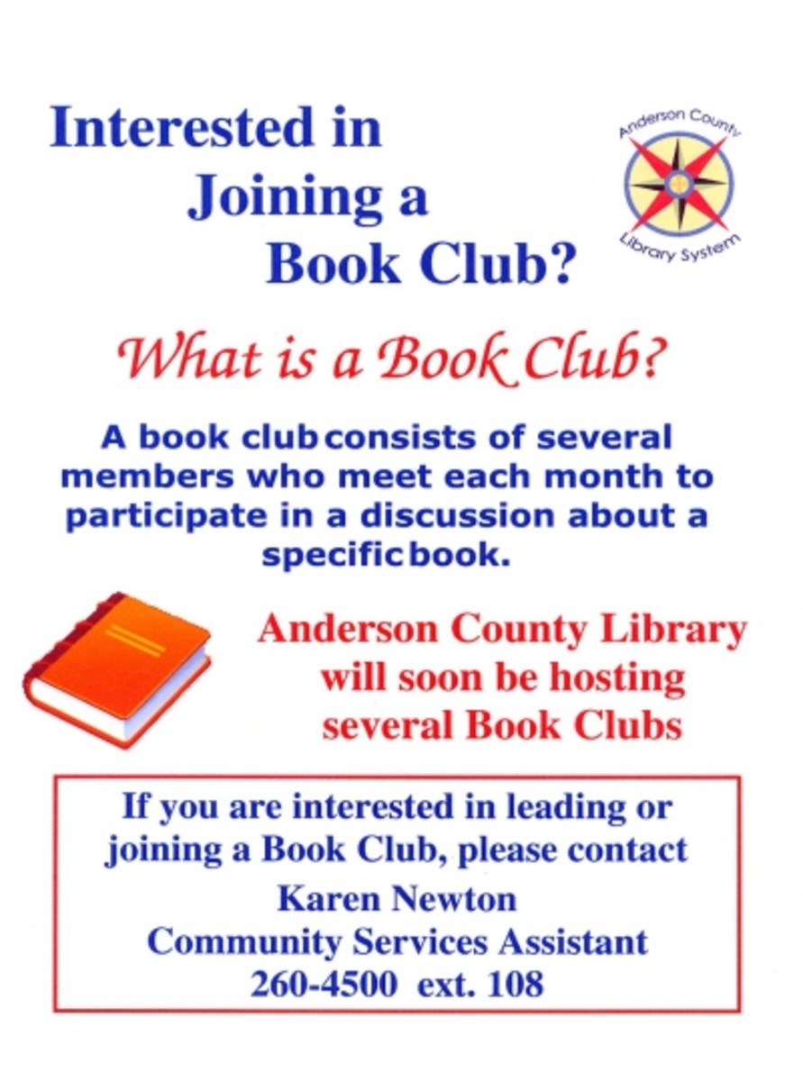 ANDERSON COUNTY LIBRARY BOOK CLUB