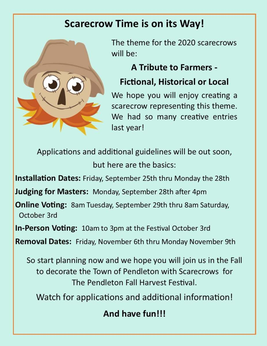 Get your creative juices flowing and lets make this the best Scarecrows ever!