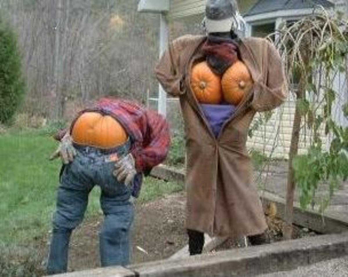 Halloween decorations can be humorous!