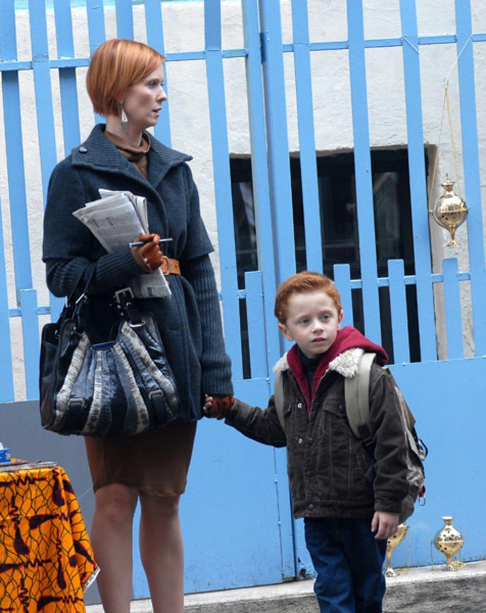 Miranda and her son, Brady