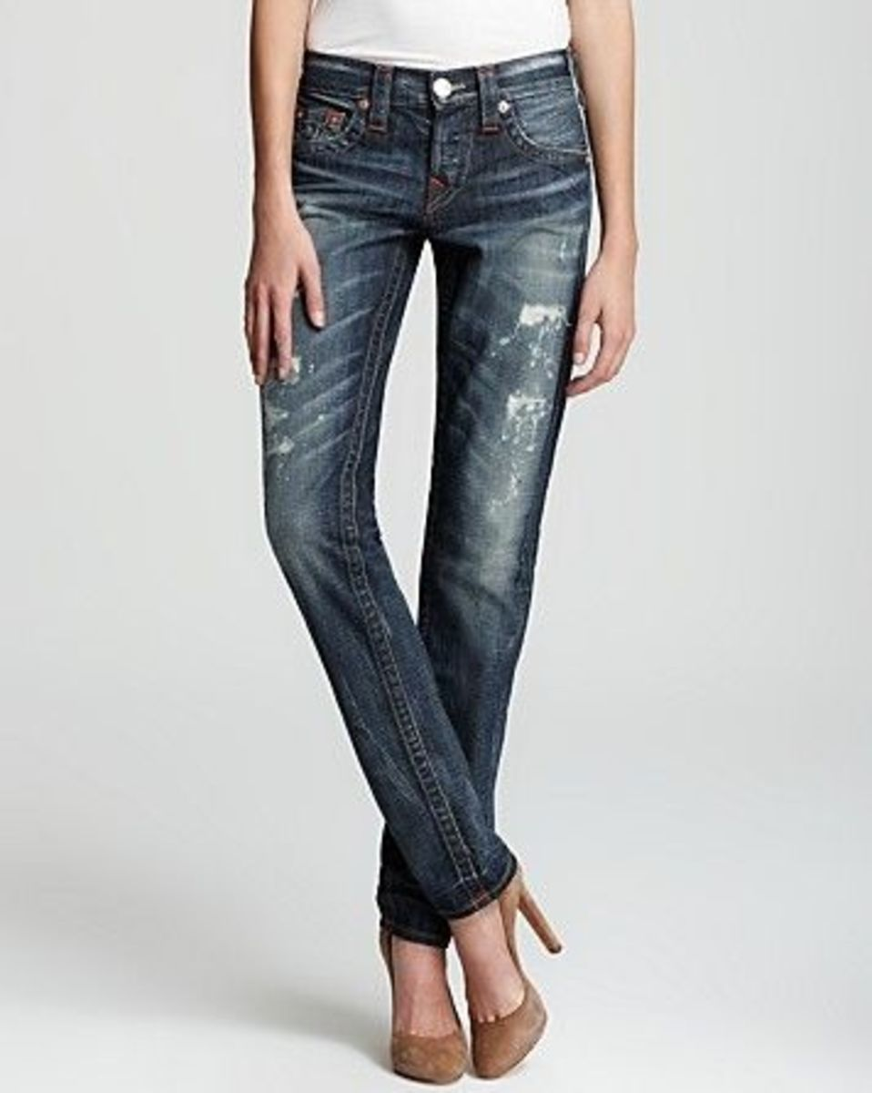 Straight legged denim by True Religion looks even hotter when you wear it with a pair of high heels or boots. They are so soft, too.