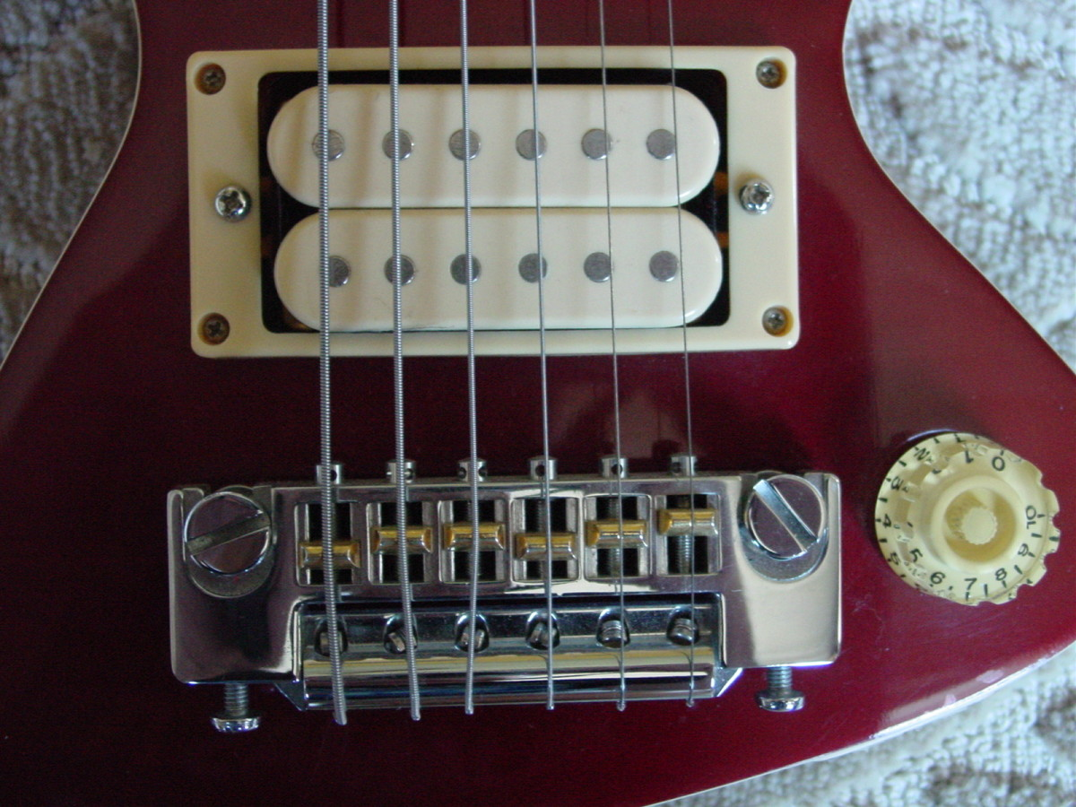 Pickup and Bridge with Volume Control detail