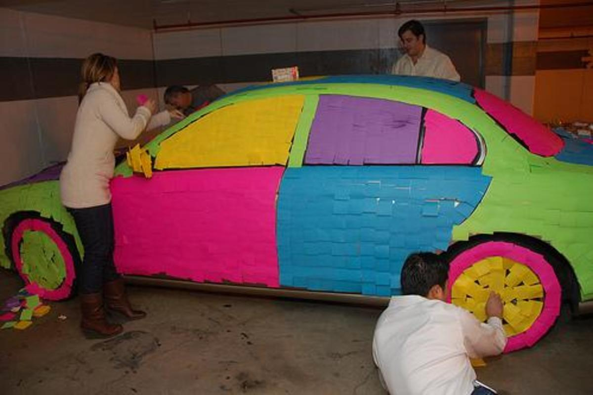 Post it notes on Jaguar