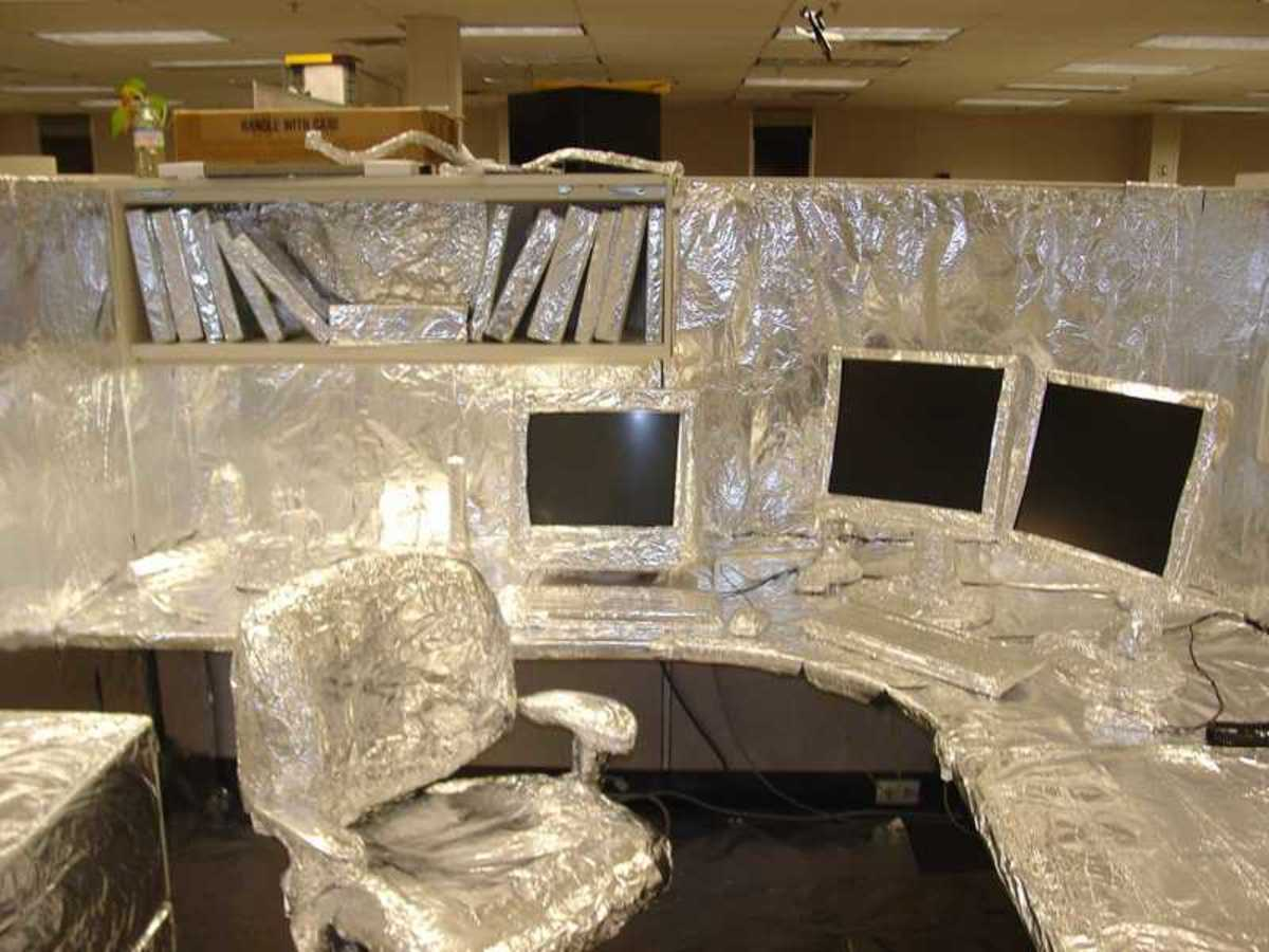 Silver Foiled Office