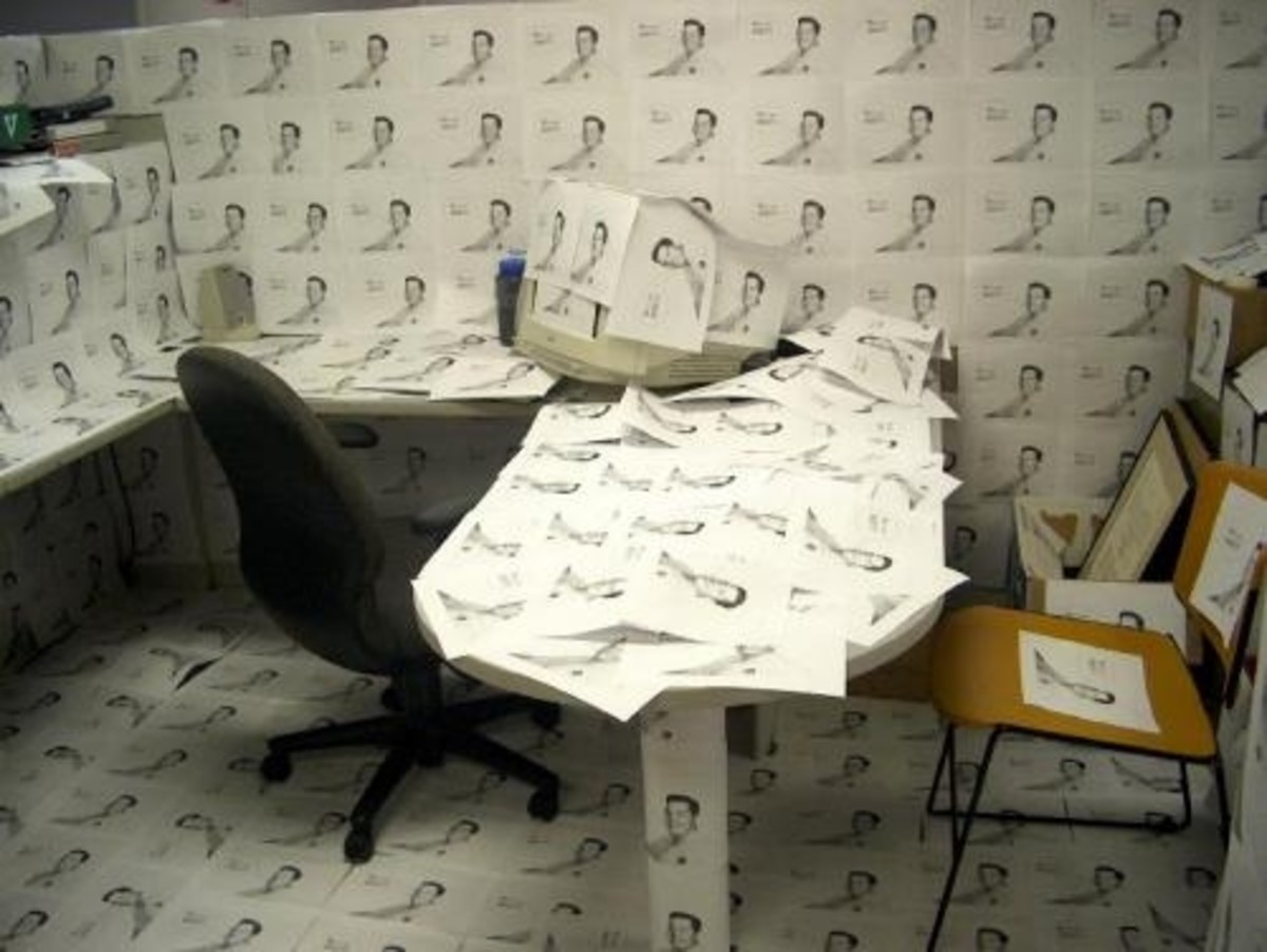 Office Dressed in Photocopies