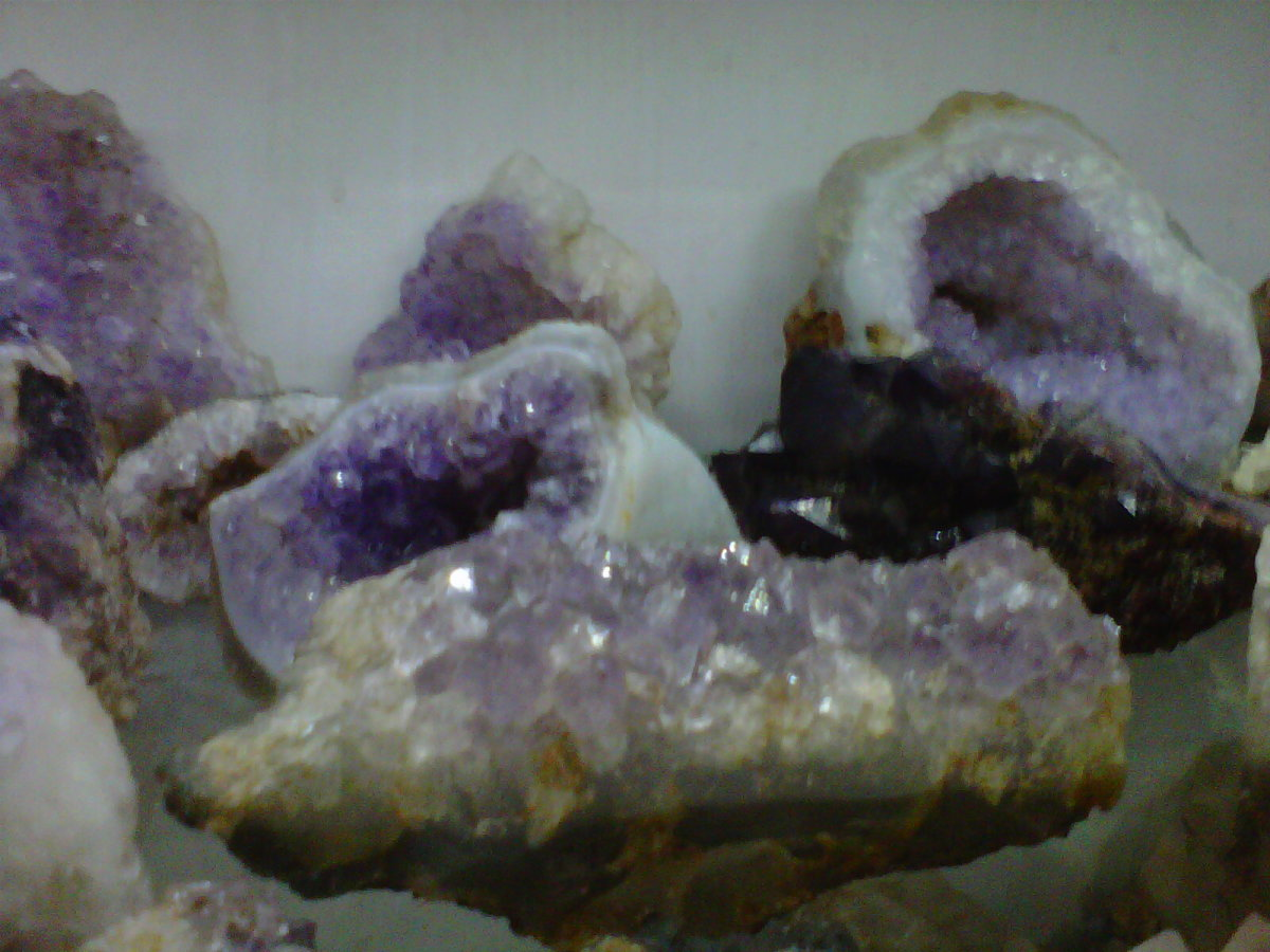 Amethyst Crystals at the Shop display shelf