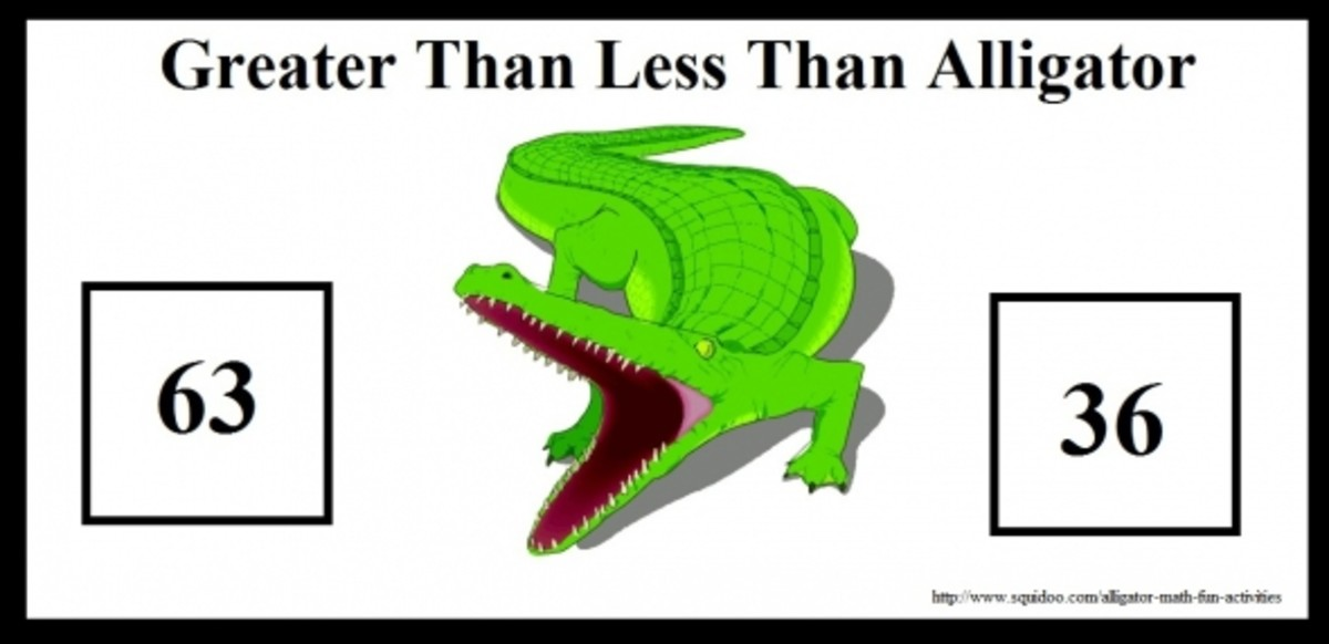 Greater Than Less Than Alligator