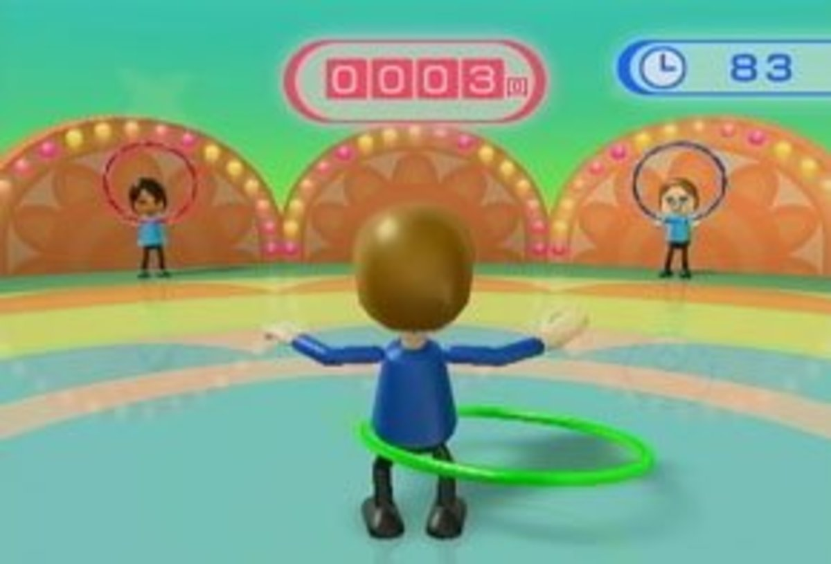 Rotate your hips to get the Hula Hoop spinning - the faster you spin it, the more points you'll earn.