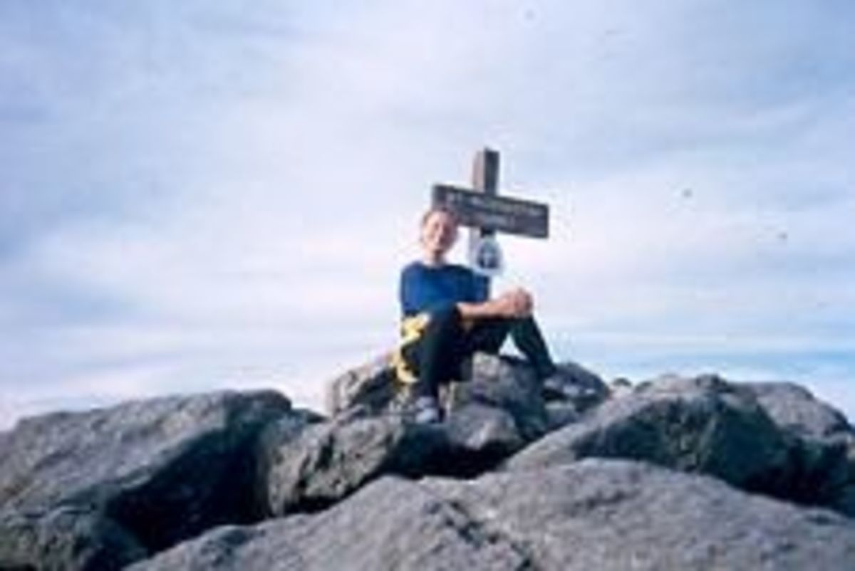Me on the summit of Mt. Washington, highest point in New Hampshire