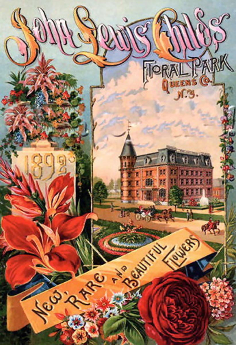 John Lewis Child's Floral Park ad clipart -- 1892