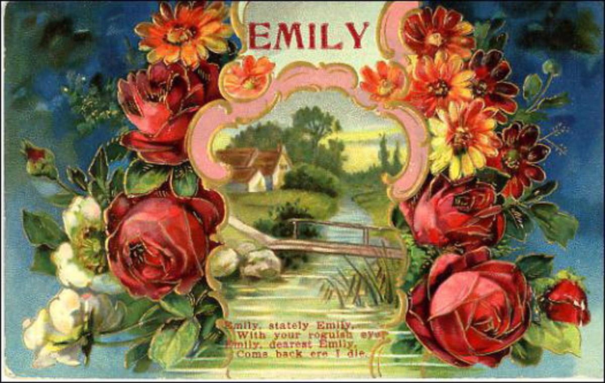 "Vintage rose ""Emily"" scene"