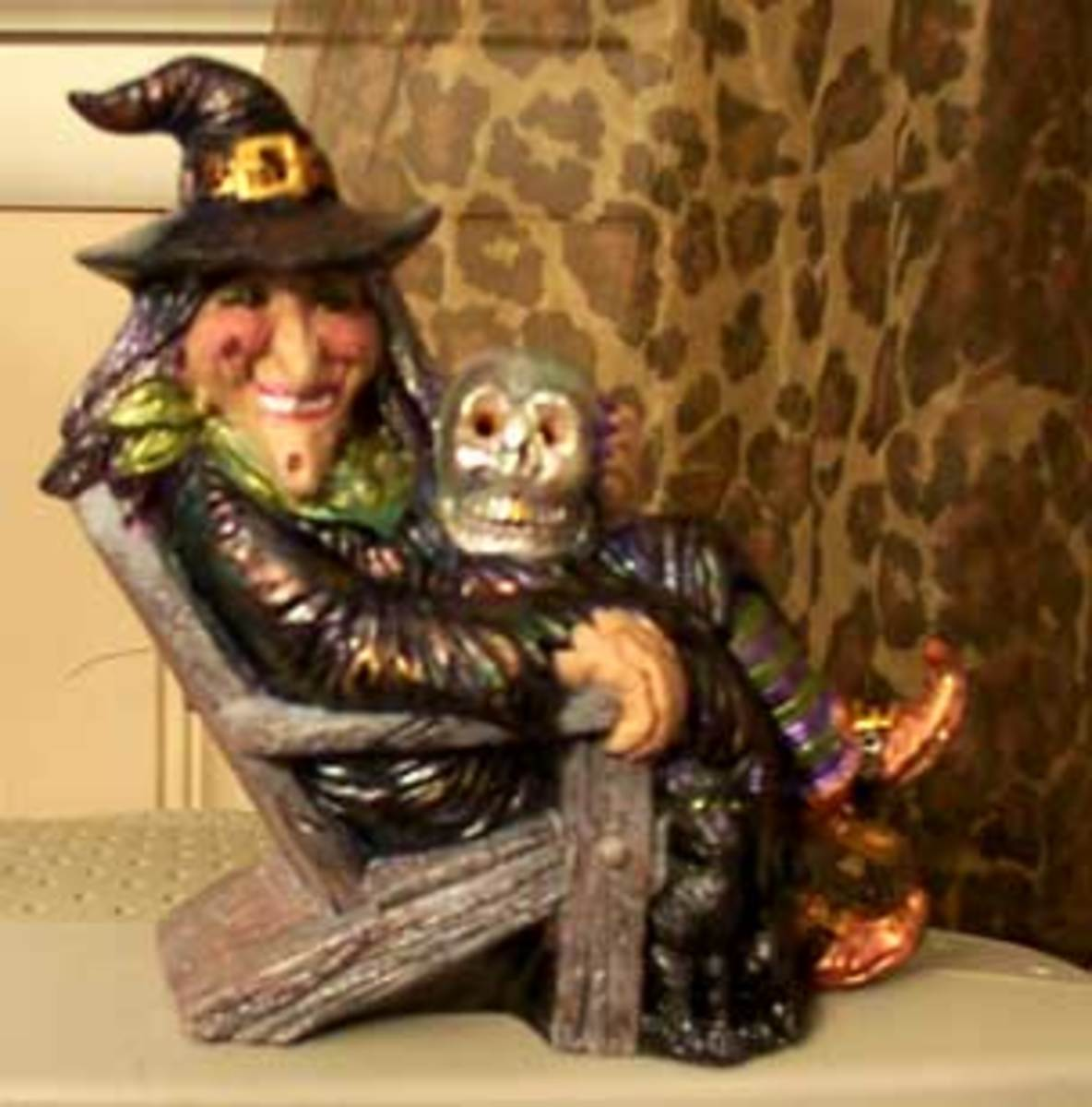 Finished witch painted with Folk Art craft paints.