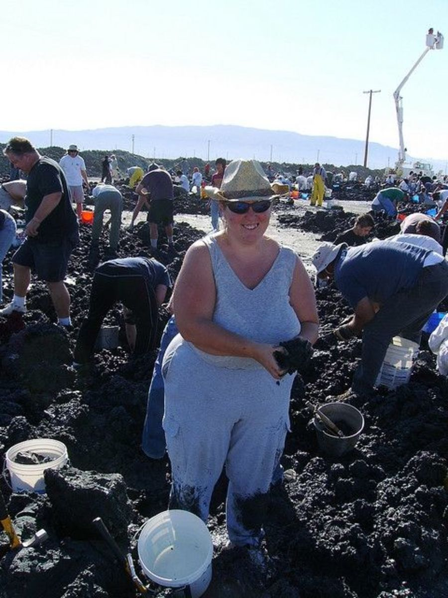 AlishaV Collecting Crystals from Mud Piles Dirty Jobs