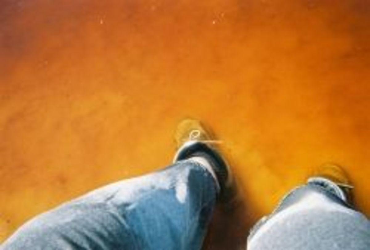 Standing in Brine Pool at Gem-o-rama