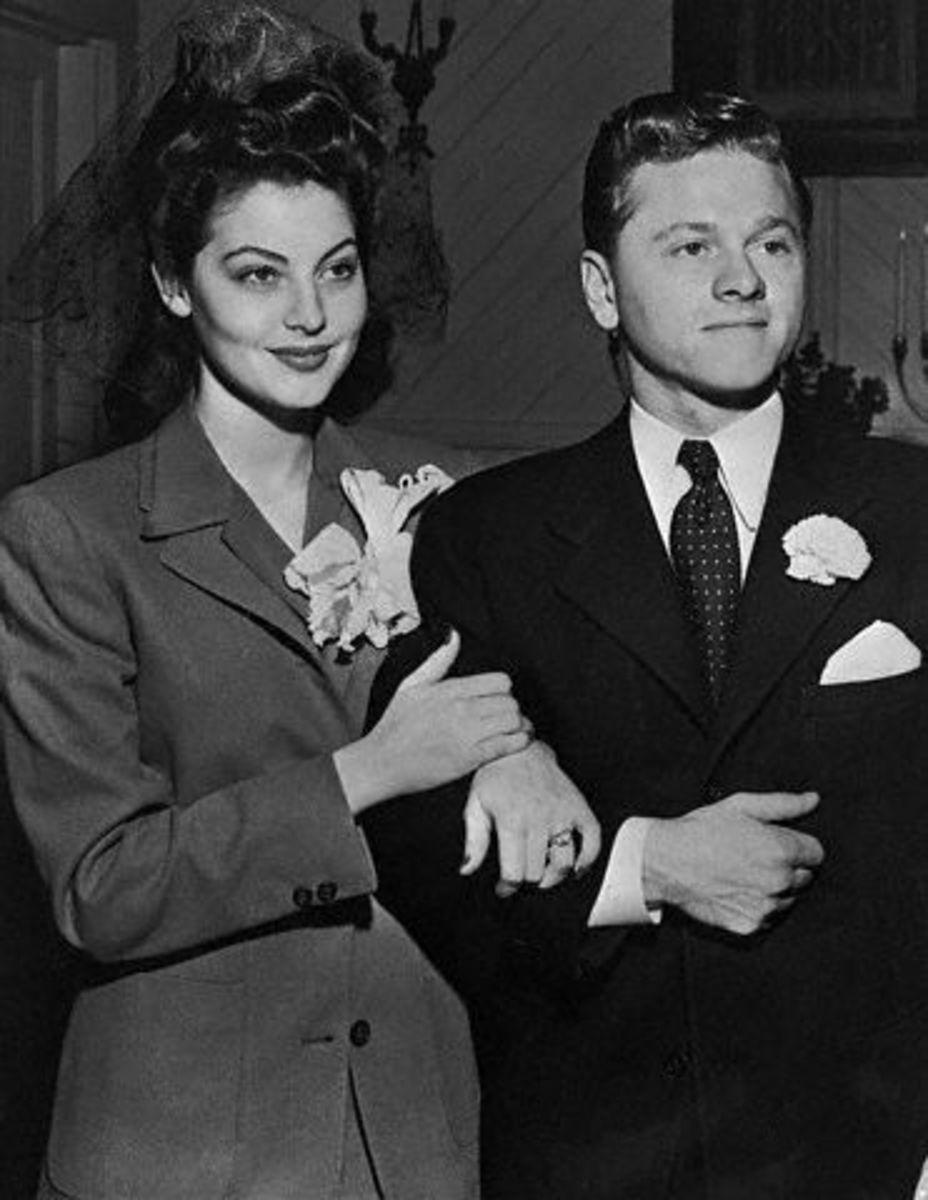 Ava and Mickey Rooney