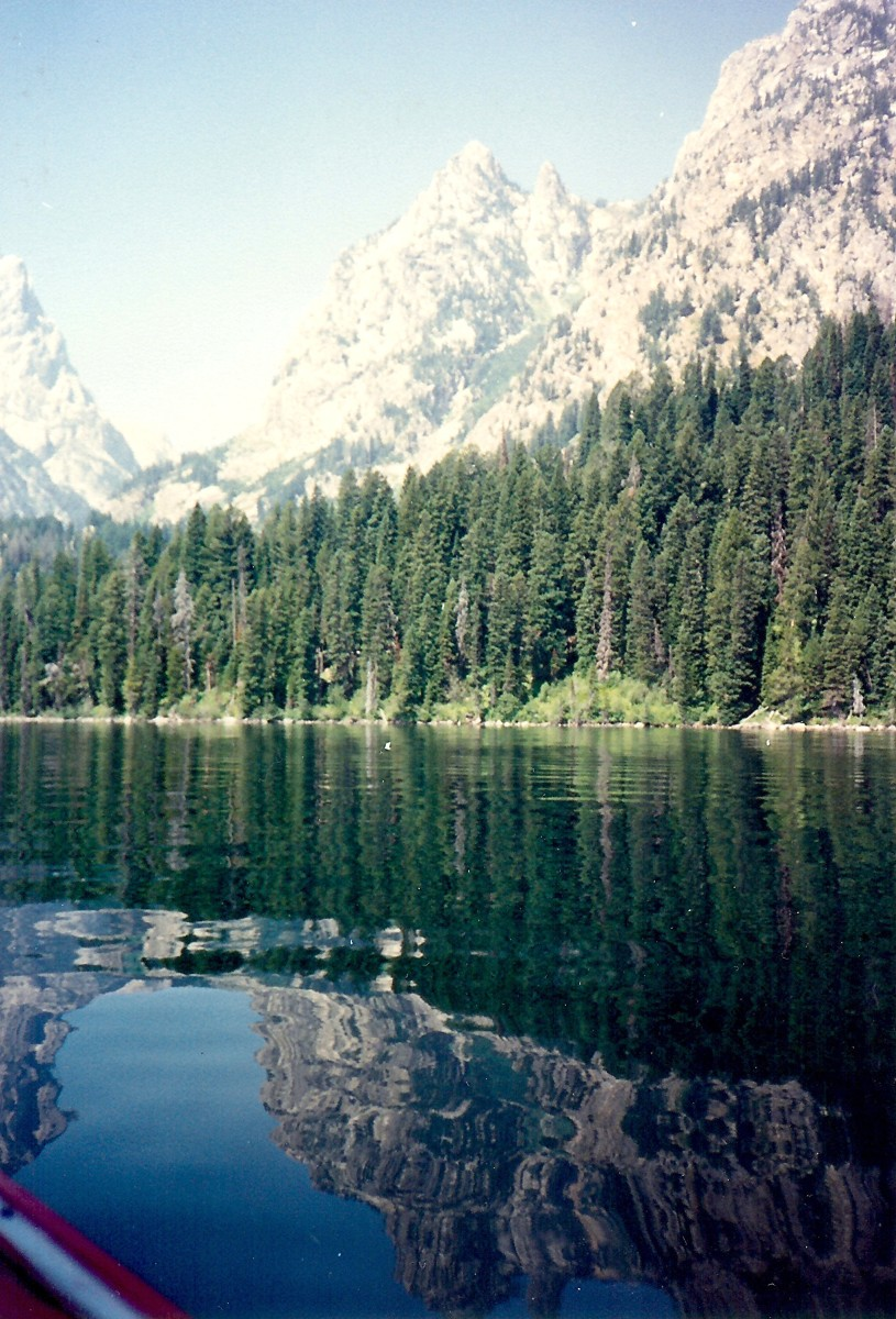 Jenny Lake as viewed from our boat ride