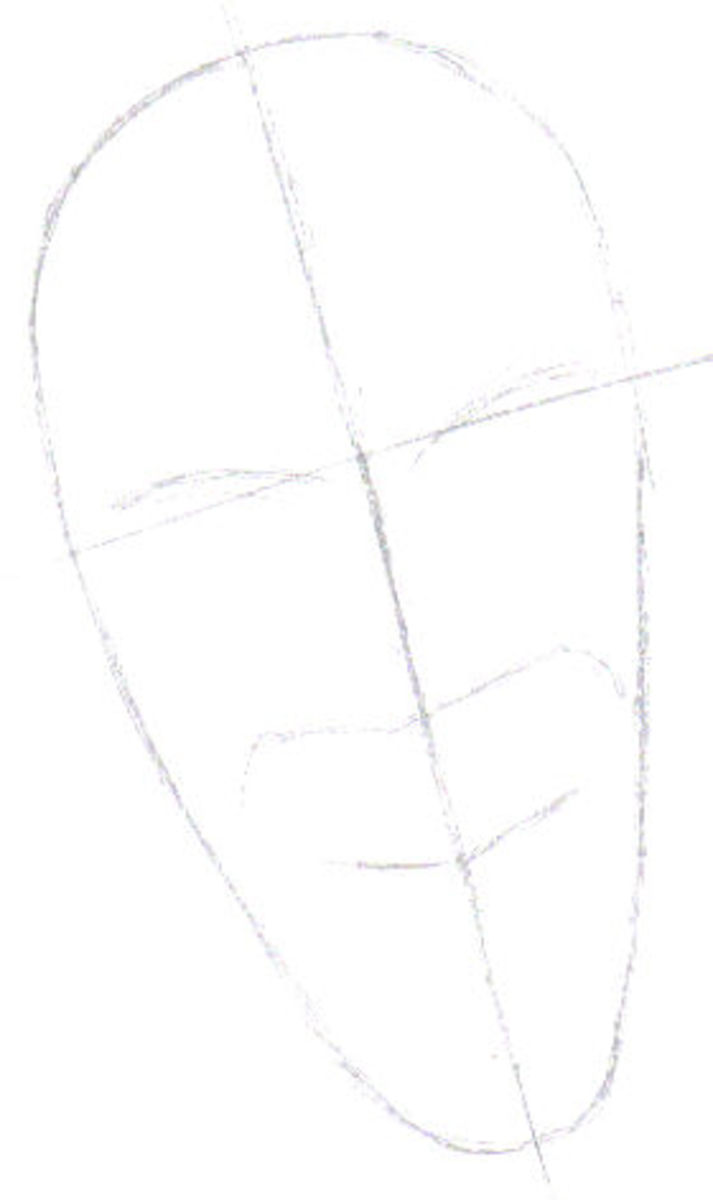 The first sketch is a basic one, one that serves as a template.