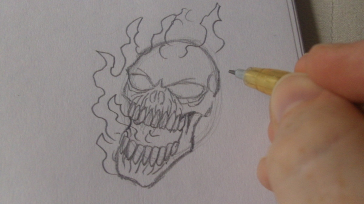 Start to draw the flames