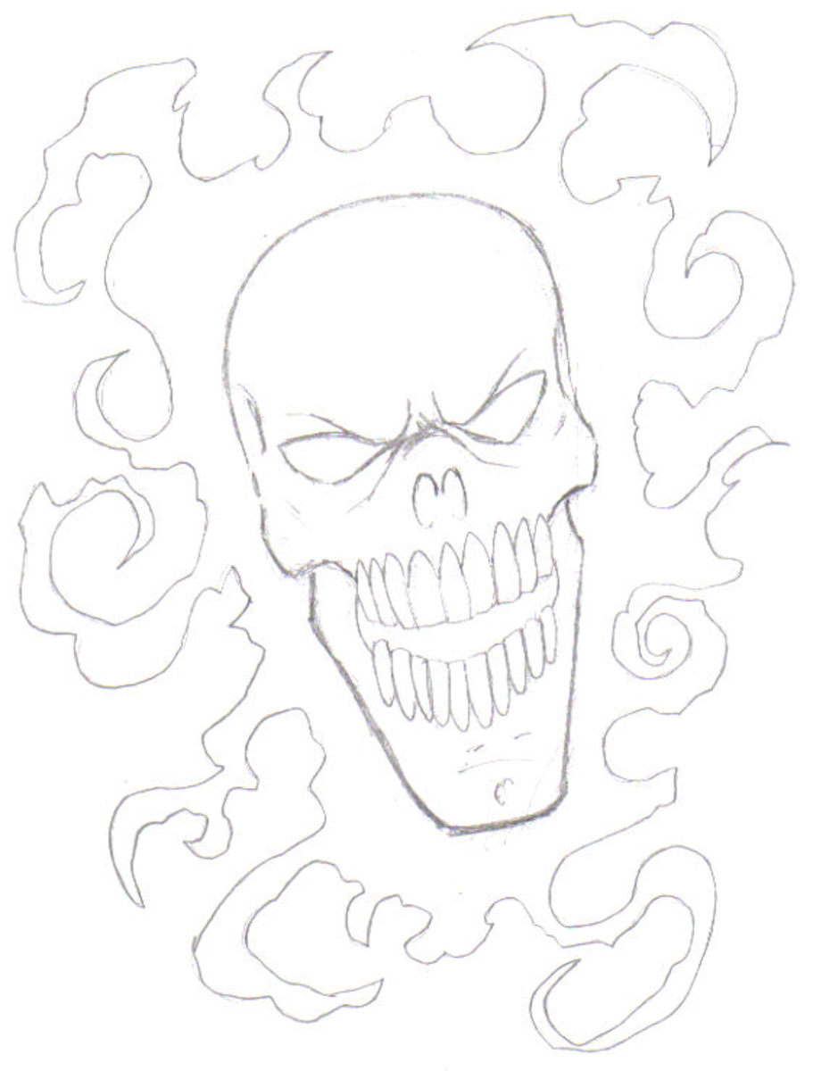 The second stage of developing your skull is working out the features.