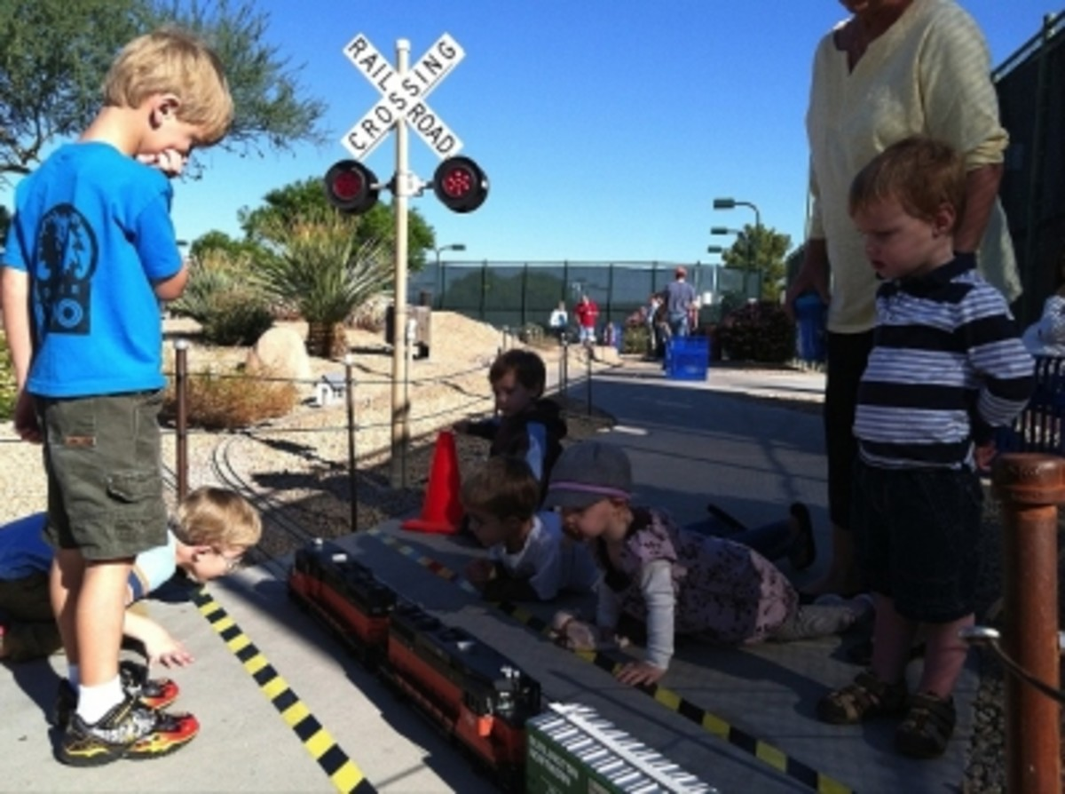 Kids love to watch the trains