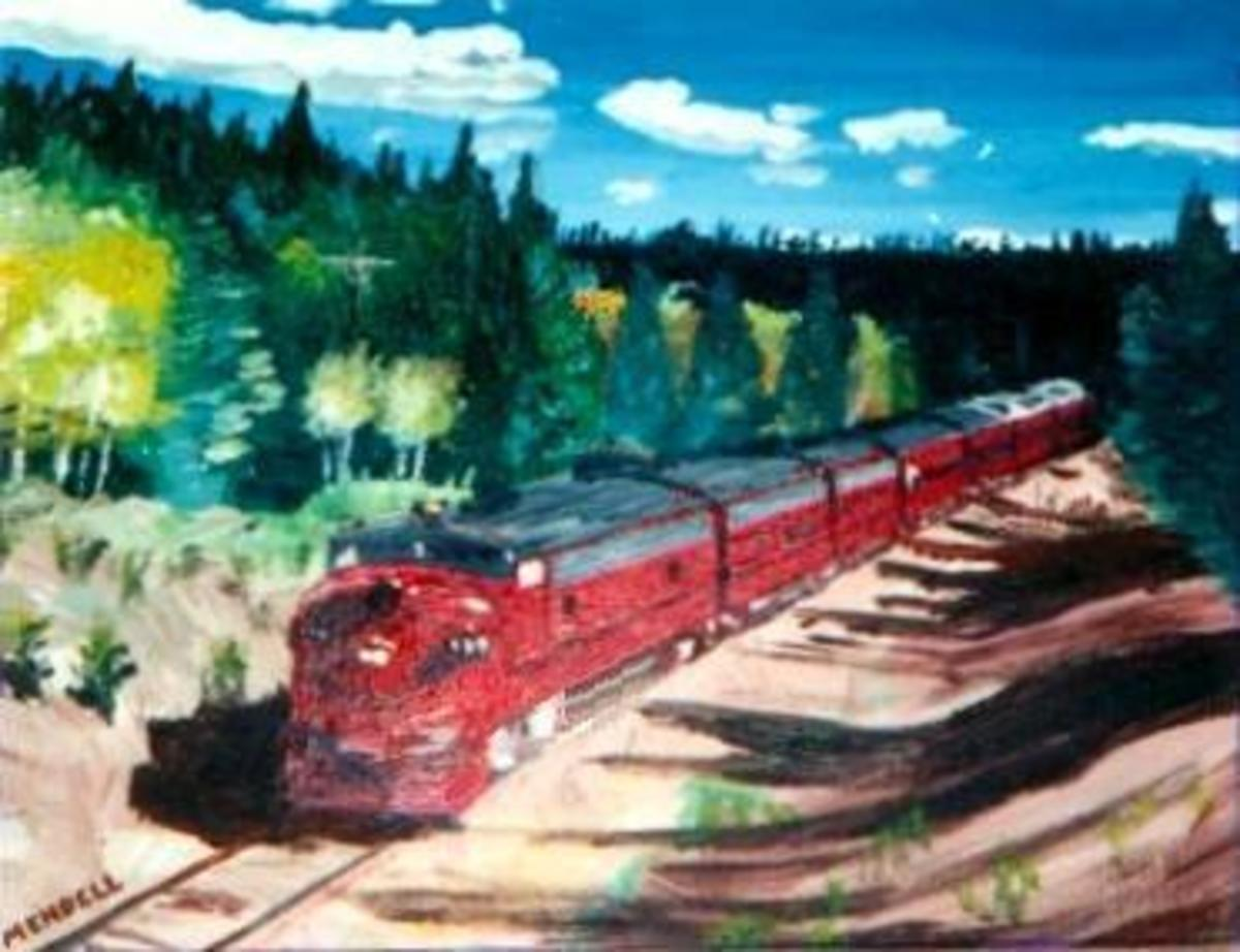 Painting by H. Mendell Smith Colorado Springs, CO