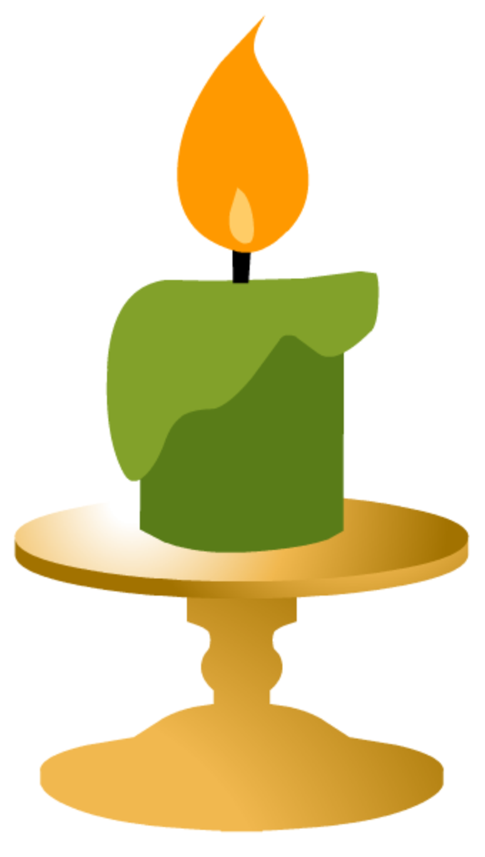 Green candle clip-art