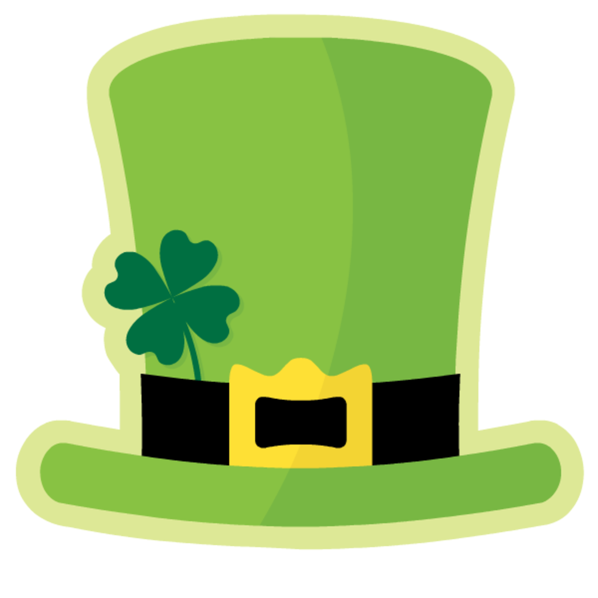 Leprechaun's green St. Patrick's Day top hat clip art
