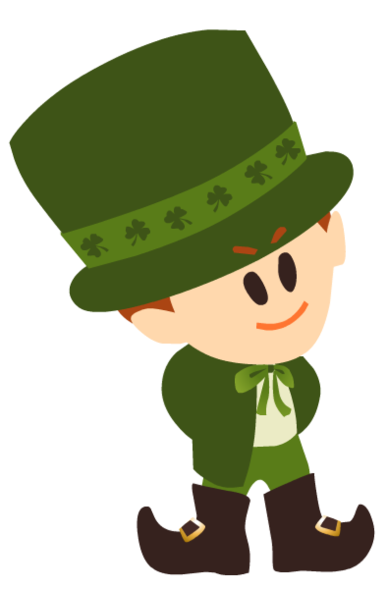 Irish leprechaun for St. Patrick's Day