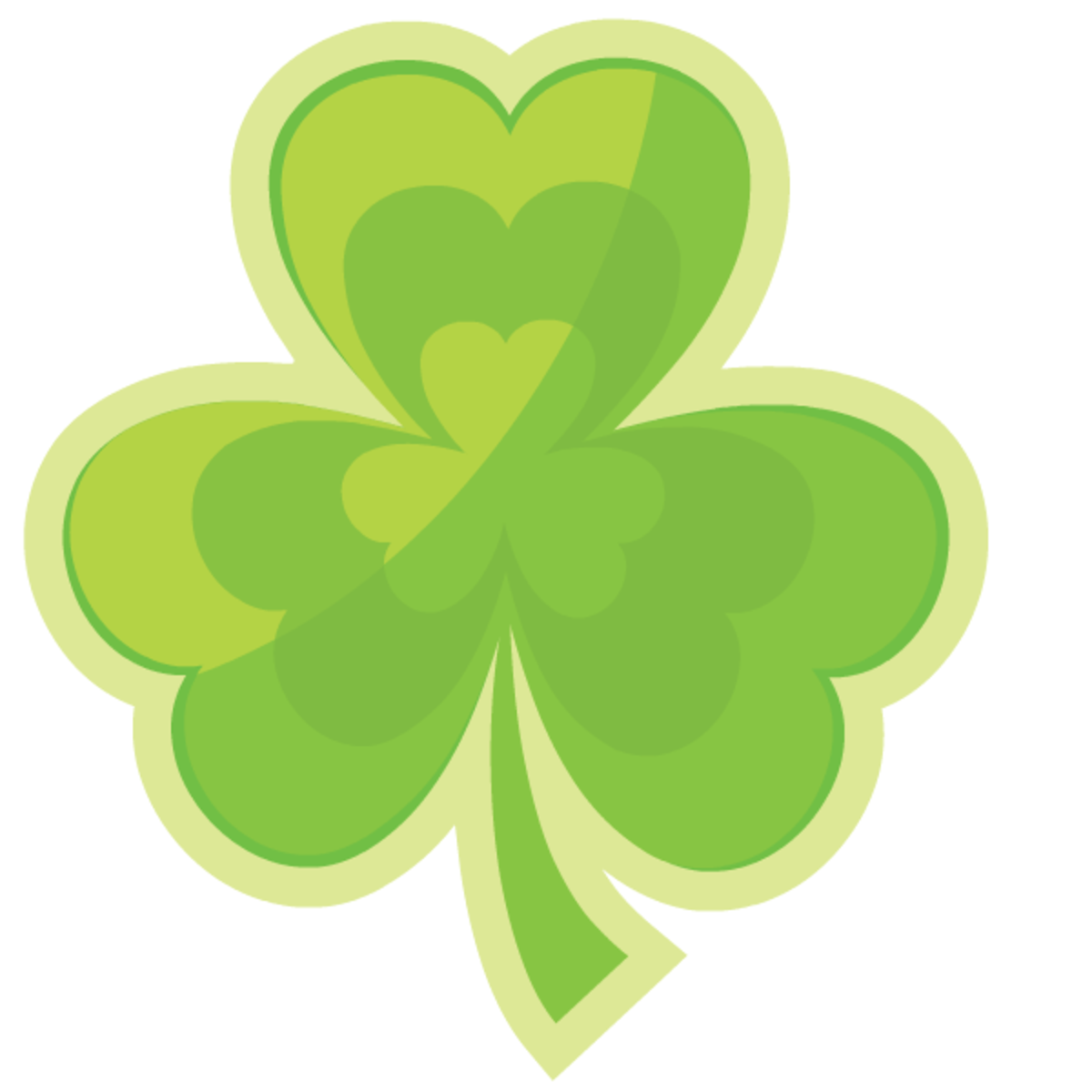 One green shamrock