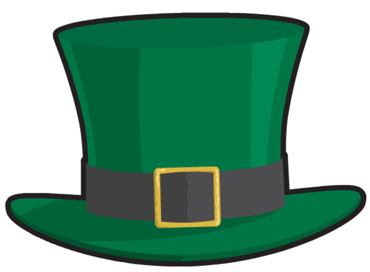 Leprechaun's green St. Patrick's Day top hat