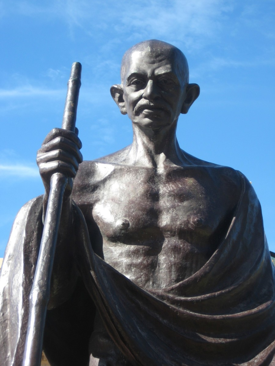 Mahatma Gandhi Statue in Wellington, New Zealand