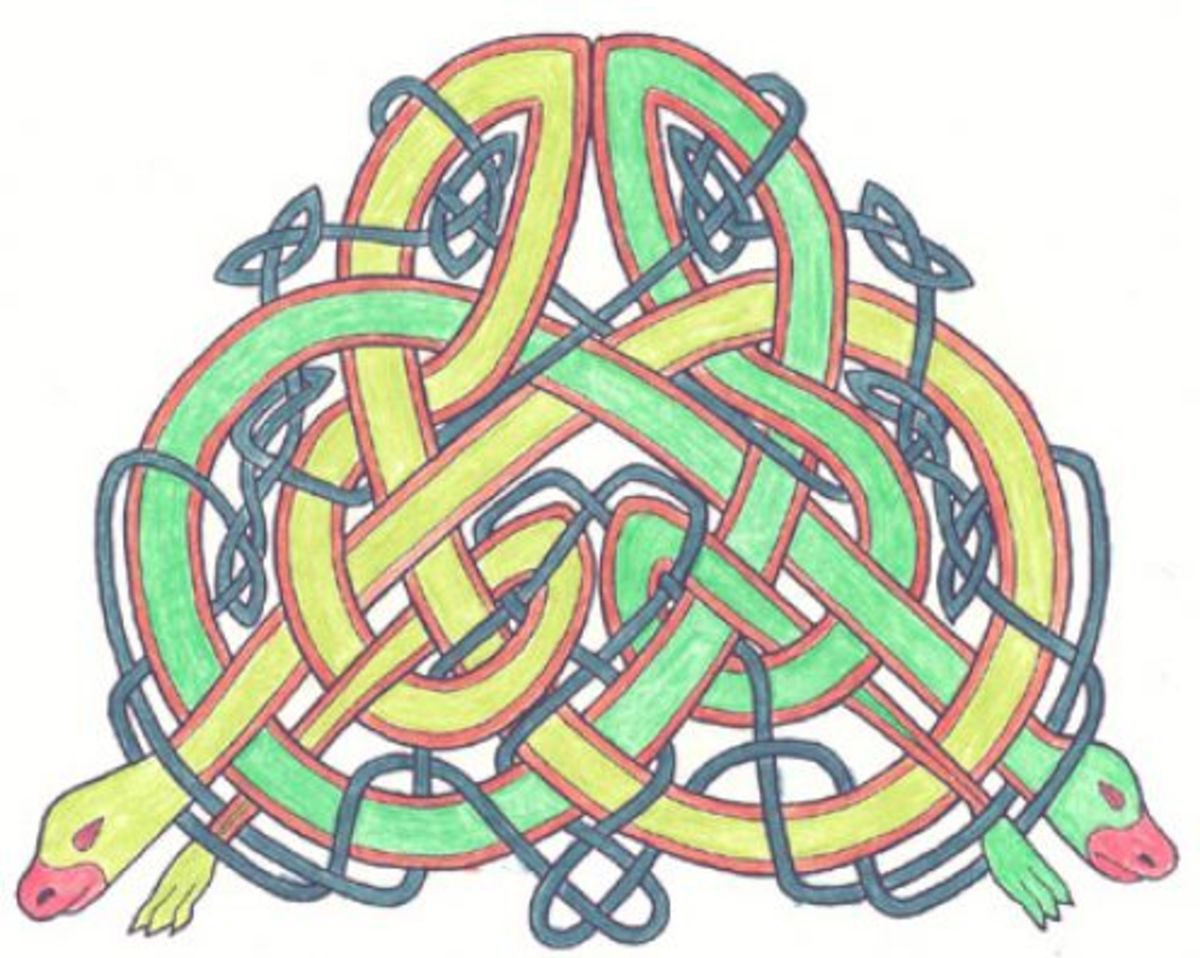 Rare Celtic Knot Snakes