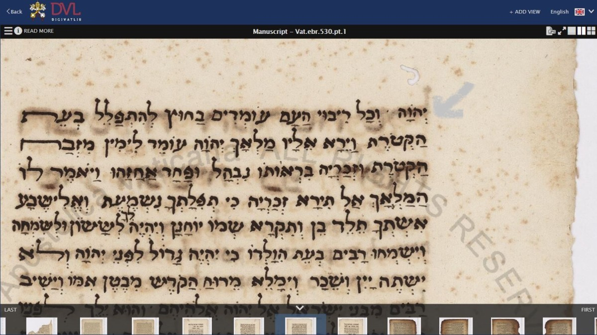A snapshot of the name Yehowah in an open  manuscript from the Vatican