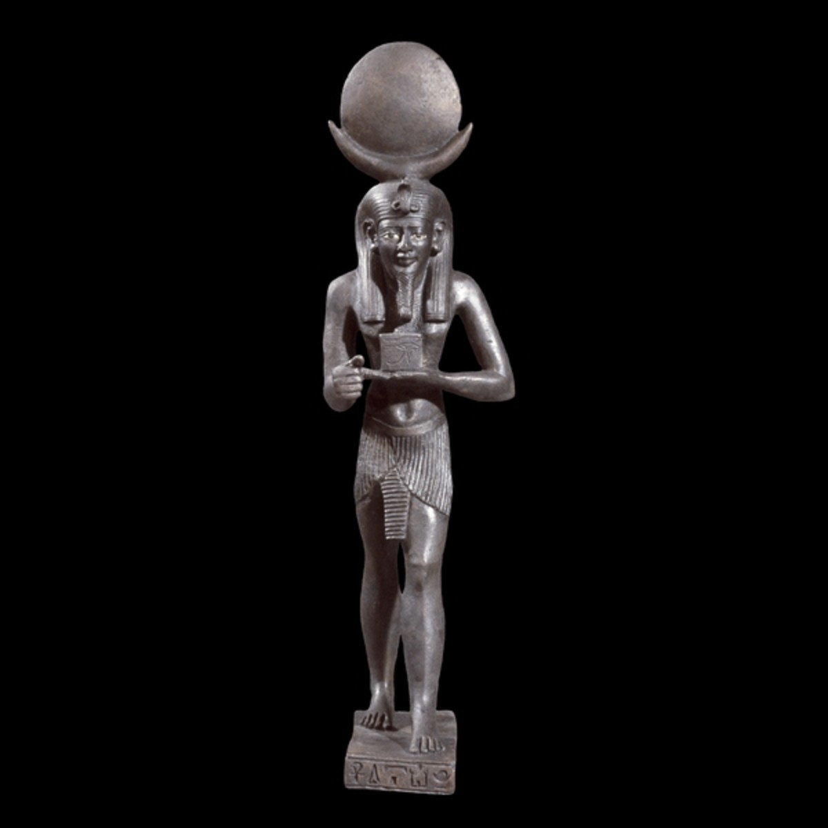 Yah or Iah, the Egyptian Moon God. A bronze statue in the British Museum.