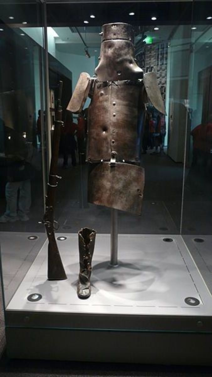 Ned Kelly's Armour On Display At The Victoria State Library