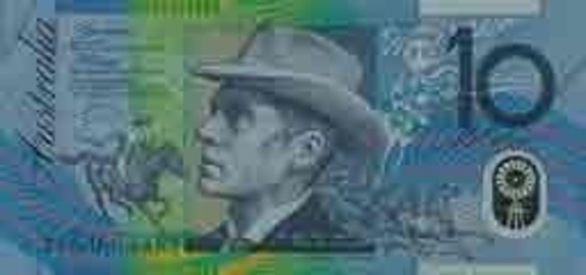 Banjo Patterson Depicted On The Australia $10 Note