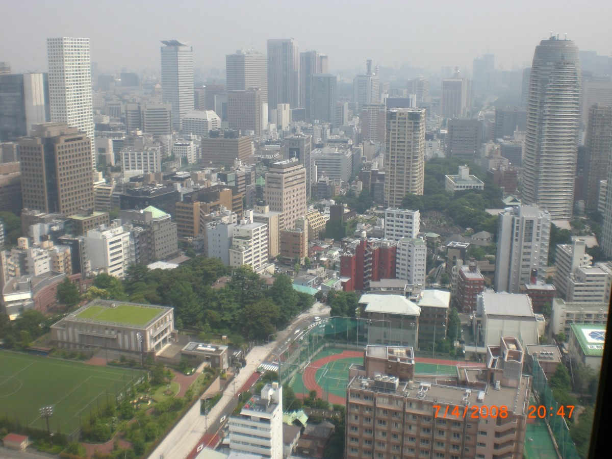 Aerial view from Tokyo Tower