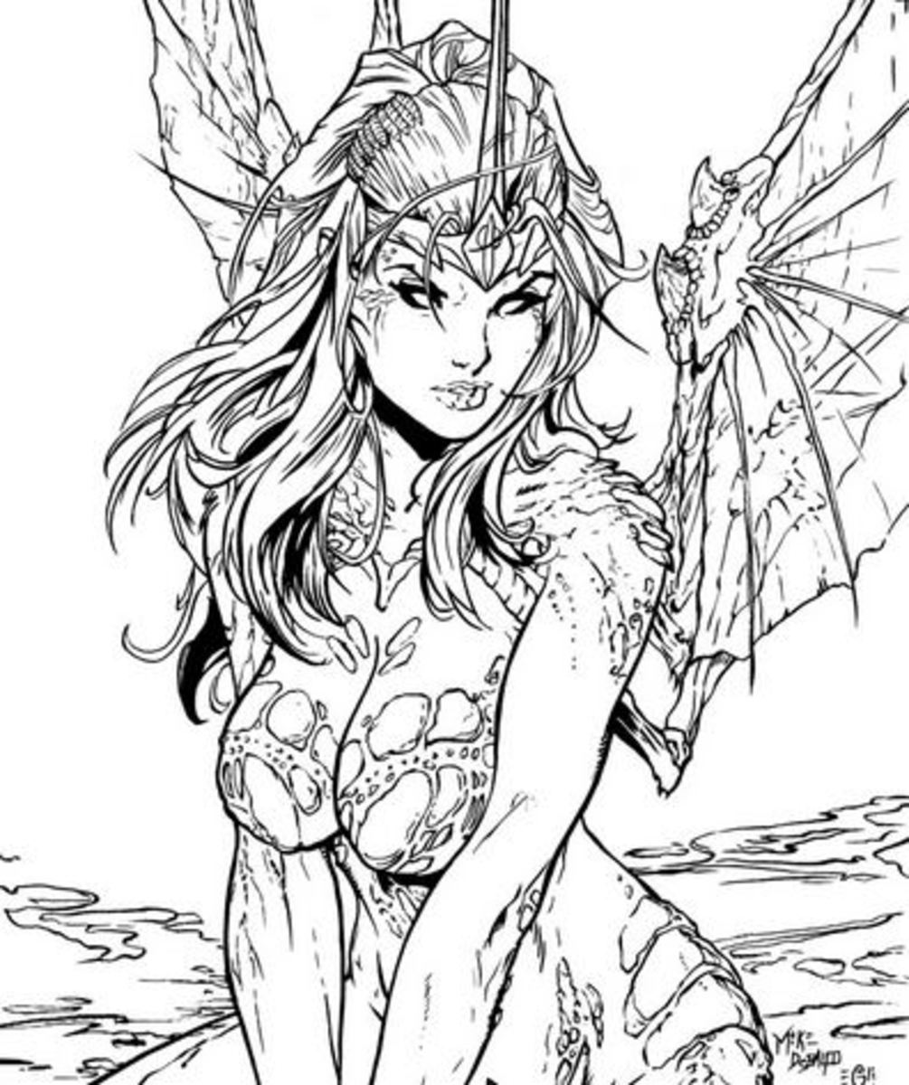 Fairy coloring pages and books
