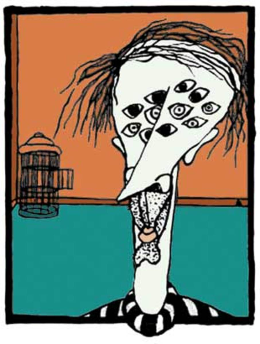 Kurt Vonnegut's Drawing of Kilgore Trout (image from: easybakecoven.net)