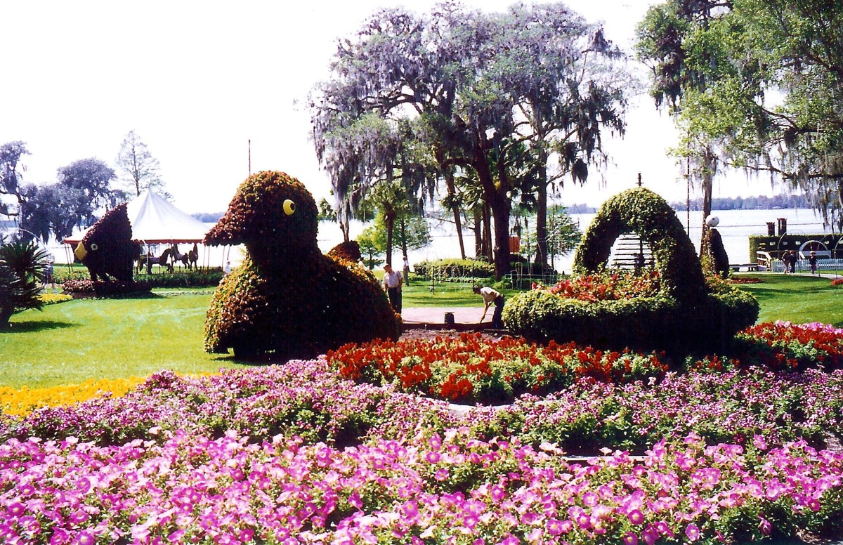 Topiary in Cypress Gardens