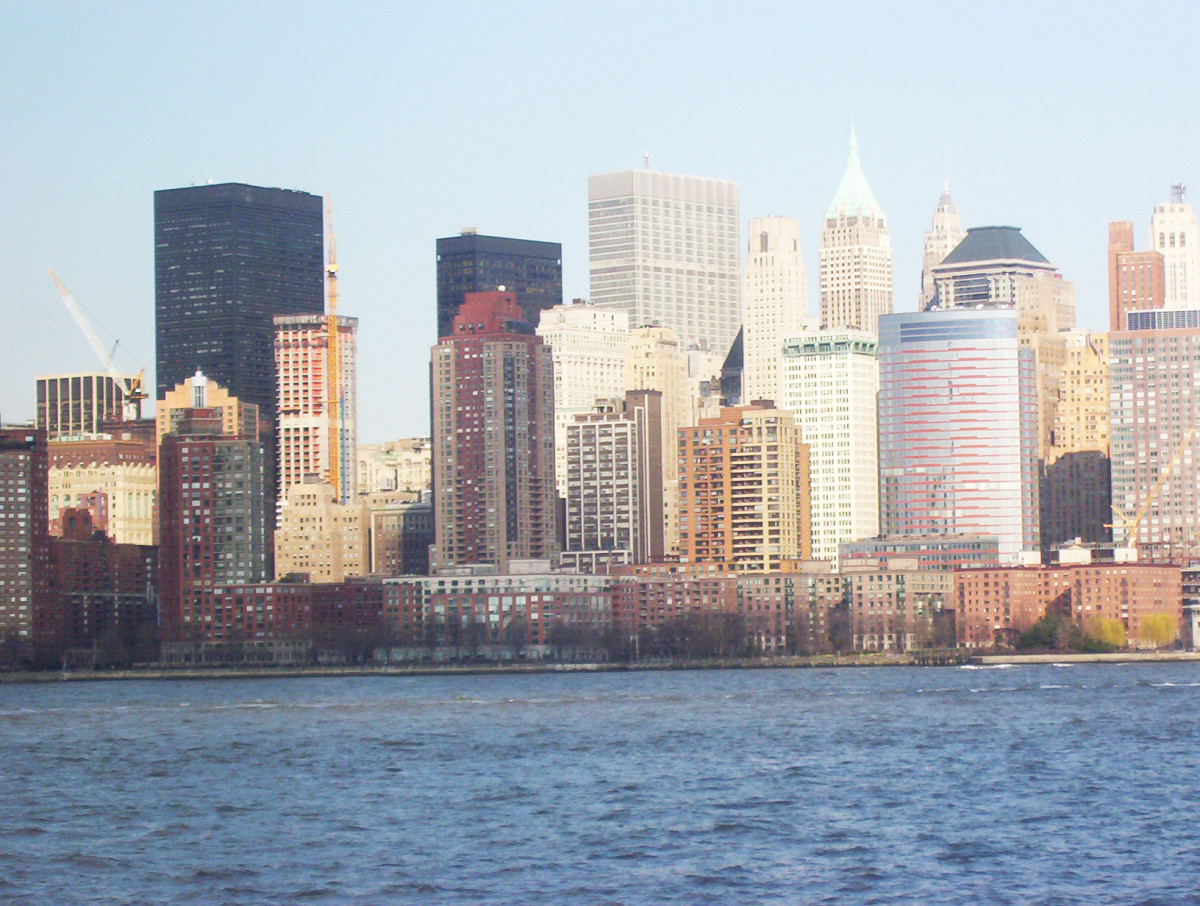 View of New York from Liberty State Park, New Jersey
