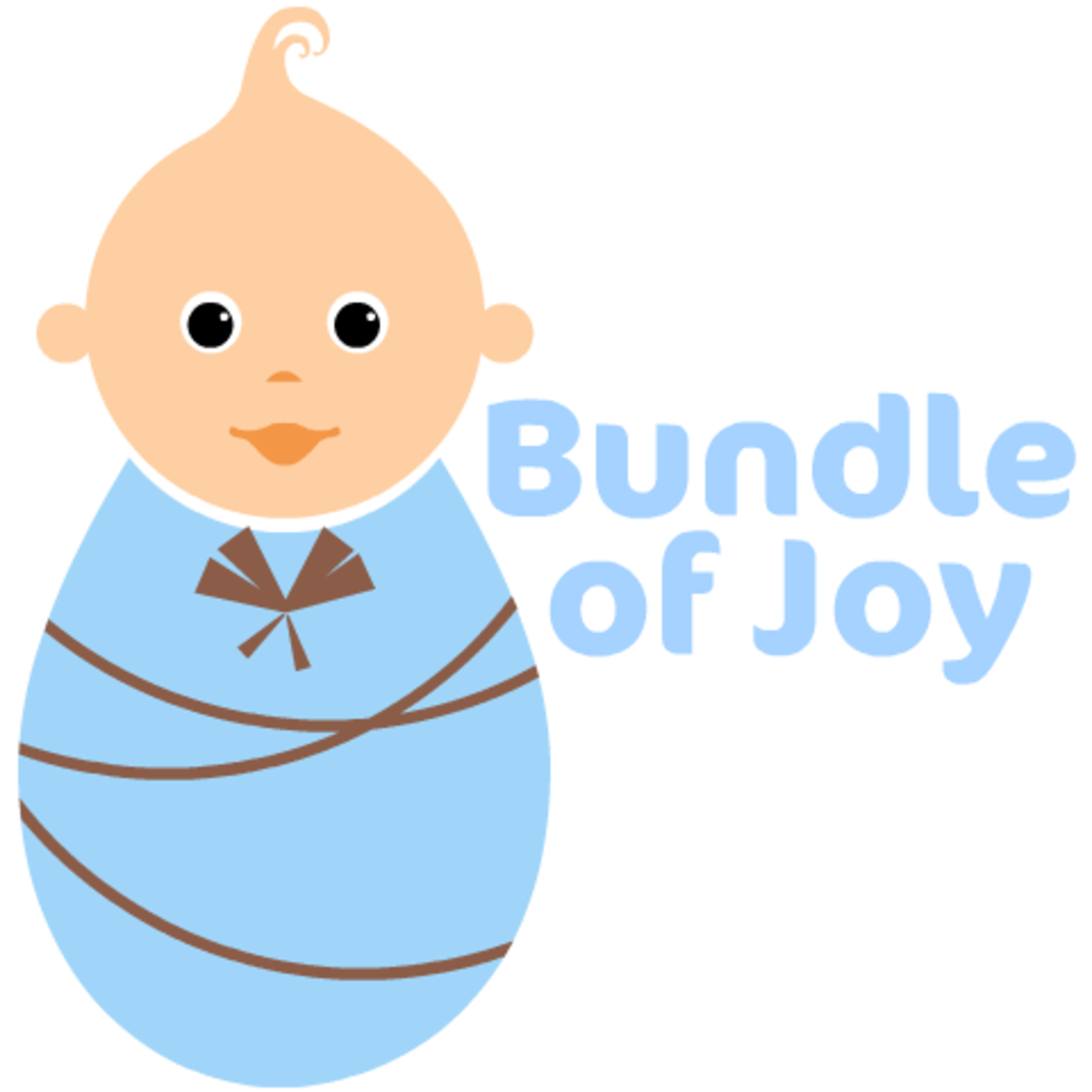 "Large boy baby clip art ""Bundle of Joy!"""
