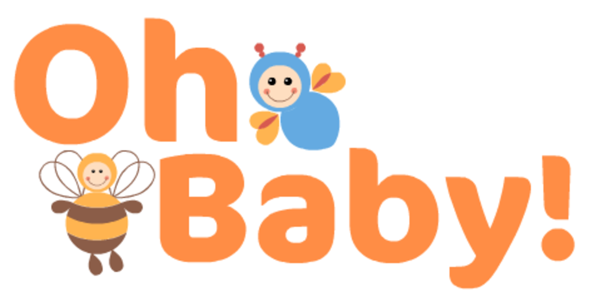 """Oh Baby"" free baby clipart with bees"