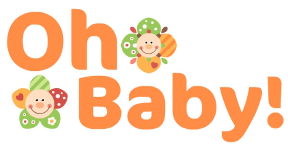 """Oh Baby"" baby clipart with flowers"