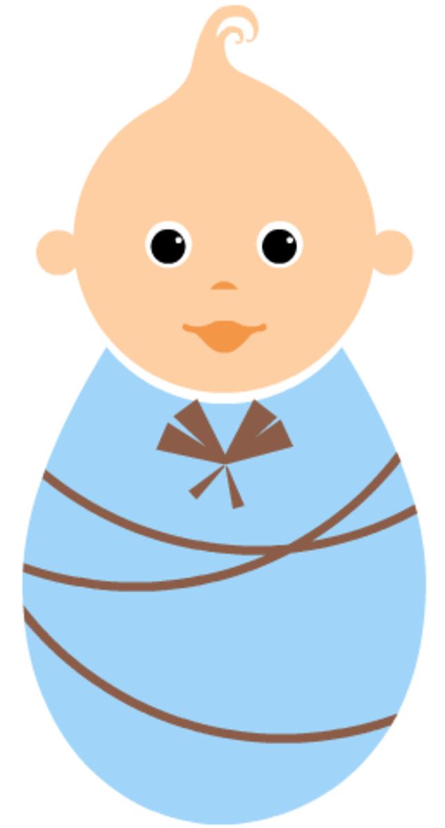 Large boy baby clip art