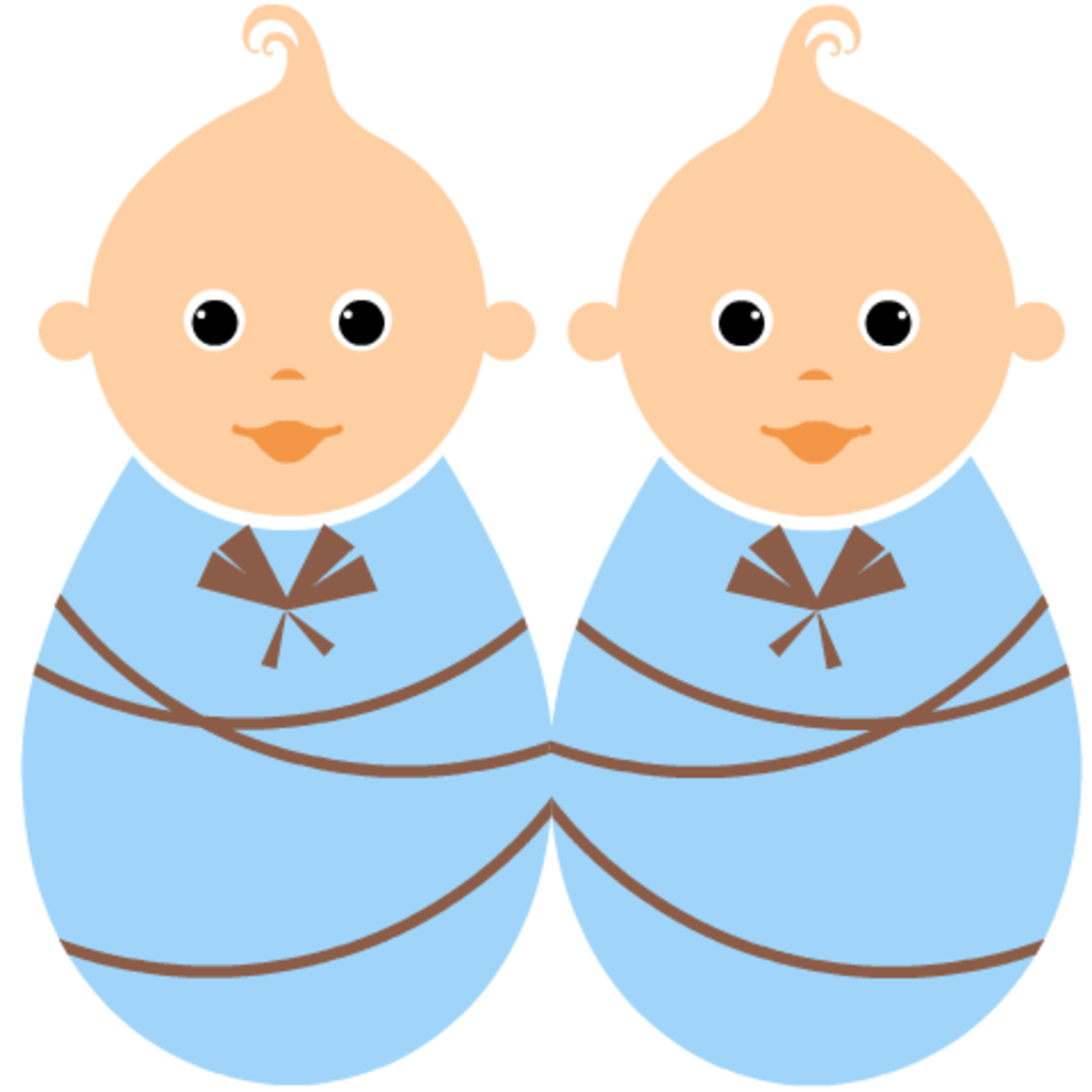 Free baby clipart: twin boys