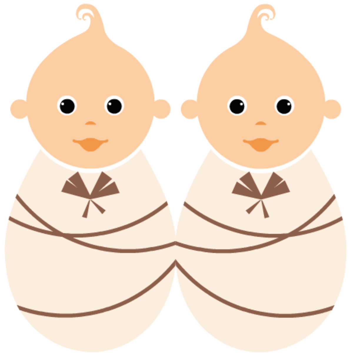 Free baby clipart: twin girls