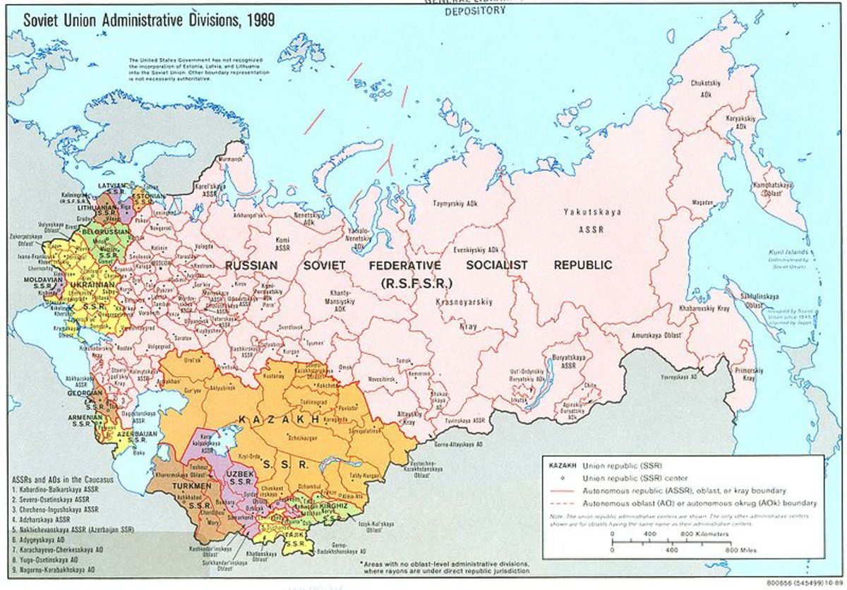 This is a map of Soviet Union